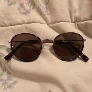 Cole Haan polarized tortoise round sunglasses